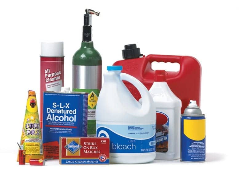 Flammable items